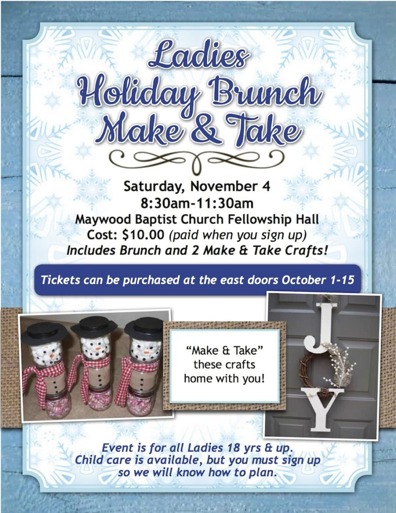 Ladies Holiday Brunch Make & Take